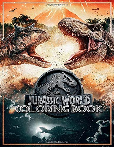 Jurassic World Coloring Books: Ideal Gift for Kids and Adults On Next Christmas and New Year Eve or Any Holidays with High Quality Illustrator