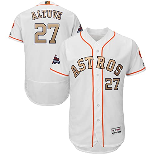 68f89382b Majestic Athletic NO.27 Mens Jose Altuve Houston Astros 2018 Gold Program  Baseball Jersey –