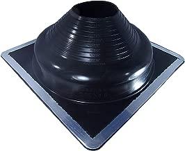Dektite Premium #8 Black EPDM Metal Roof Pipe Flashing, Square Base, Pipe OD 6-3/4