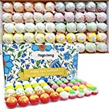 MORE SHOWER BOMBS CHOICES - There are 10 types of bath bombs in the box, and 5 bombs for each type, 50 pieces of bath bombs in one box, you have more choices while you want to enjoy the bubble bath salt ball, just choose the one you'd like to use at ...