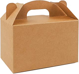 Moretoes 36 Pack Treat Boxes Gable Boxes Paper Party Favor Brown Kraft Boxes Birthday Party Shower Gift Boxes 6 x 3.5 x 3.5 inches