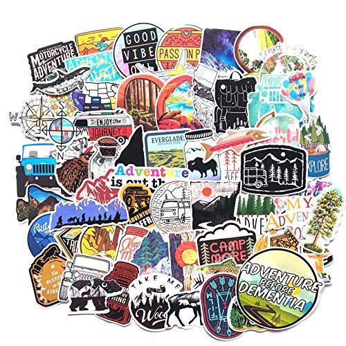 HUNSHA 65 pegatinas de graffiti de viaje al aire libre, decoración del cuerpo, refrigerador del equipaje, guitarra, scooter, pegatinas impermeables del coche del ordenador