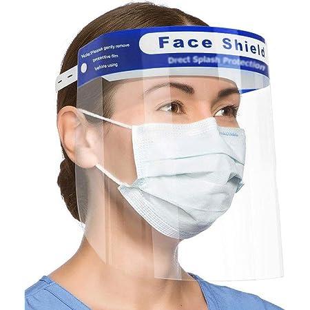 2pcs Full Face Shield Reusable Goggles Glasses Frame Visor Cap Dustproof