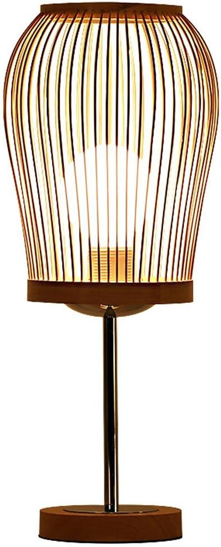 XIAPENG Modernen Einfache Kreative IKEA Pastoral Augenschutz Dekoration Bambus Licht Massivholz Lampe E27 Studie Schlafzimmer Nachttischlampe Wohnzimmer 19  45cm B07J67K15M     | Kostengünstiger