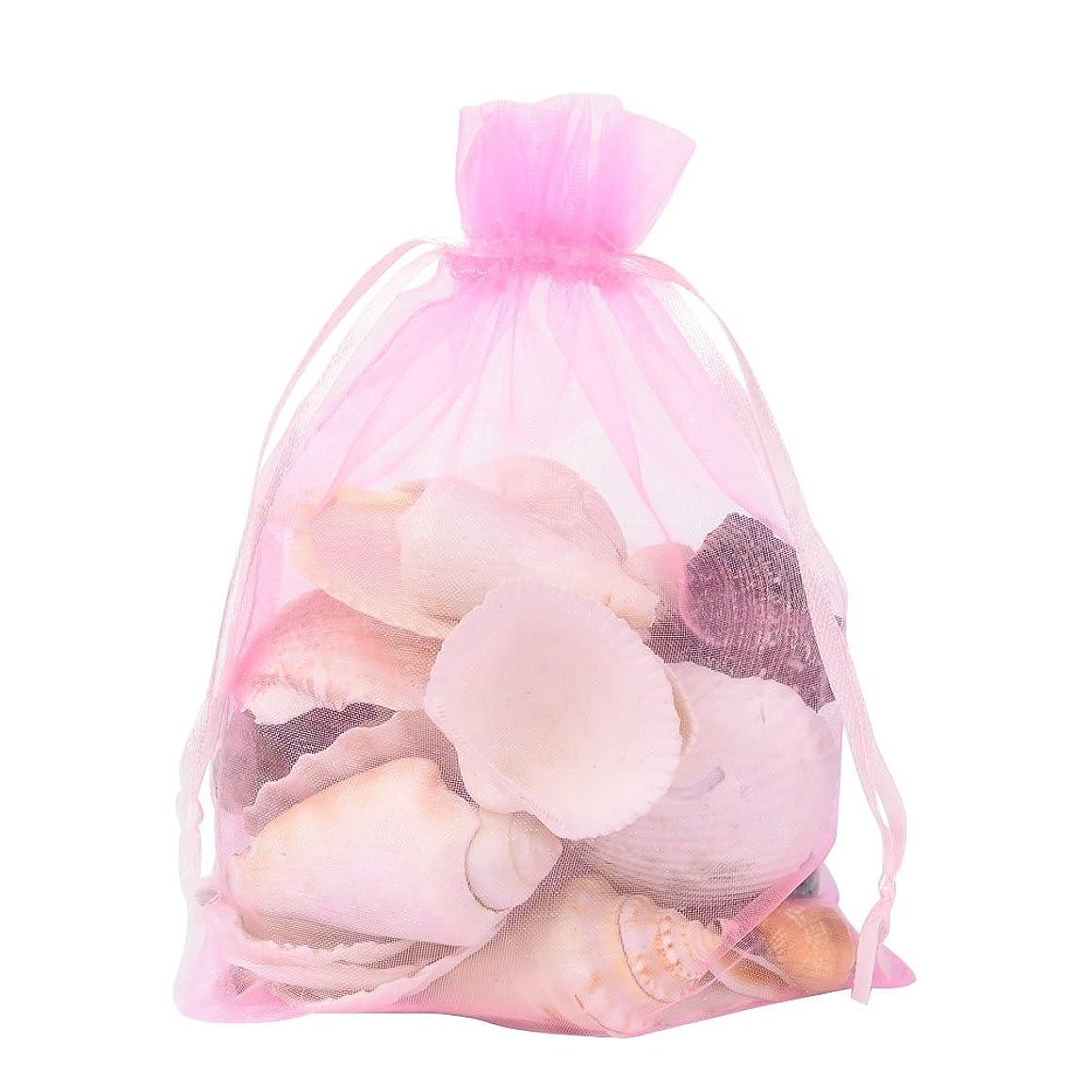 Pandahall 100 PCS 5x7 inch Pink Organza Drawstring Bags Party Wedding Favor Gift Bags
