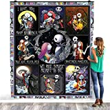 Jack Skellington and Sally Nightmare Before Christmas Blanket Simply Meant to Be Quilt – Warm Bed Throws – Decorating Bedrooms Home Fleece Blanket – Premium Sherpa Blanket Size 50x60