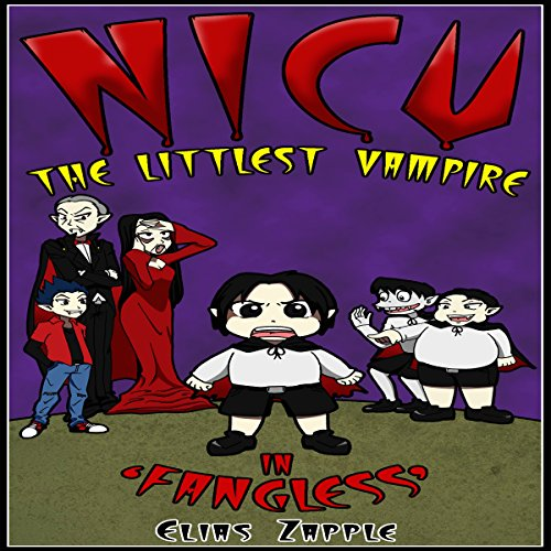 Nicu - The Littlest Vampire in 'Fangless' audiobook cover art