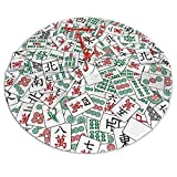 Mahjong Christmas Tree Skirt Decoration Full-Width Single-Sided Printed Christmas Tree Cushion Three Suitable Sizes