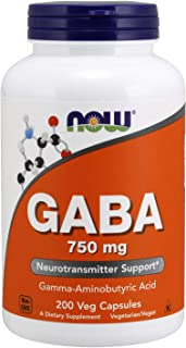 Now Foods Gaba. 750Mg - 200 Cápsulas