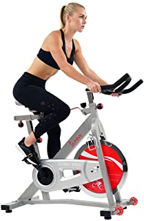 Sunny Health & Fitness Unisex Adult SF-B901B Belt Drive Indoor Cycling Bike - Silver, One Size