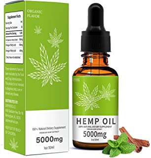 Hemp Oil,Anti-Anxiety and Anti-Stress 100% Natural Dietary Supplement