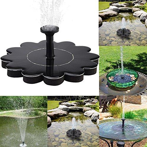 Celiy Solar Aquarium, Outdoor Solar Powered Bird Bath Water Fountain Pump for Pool, Garden, Aquarium, Home Easter Decorations Gifts