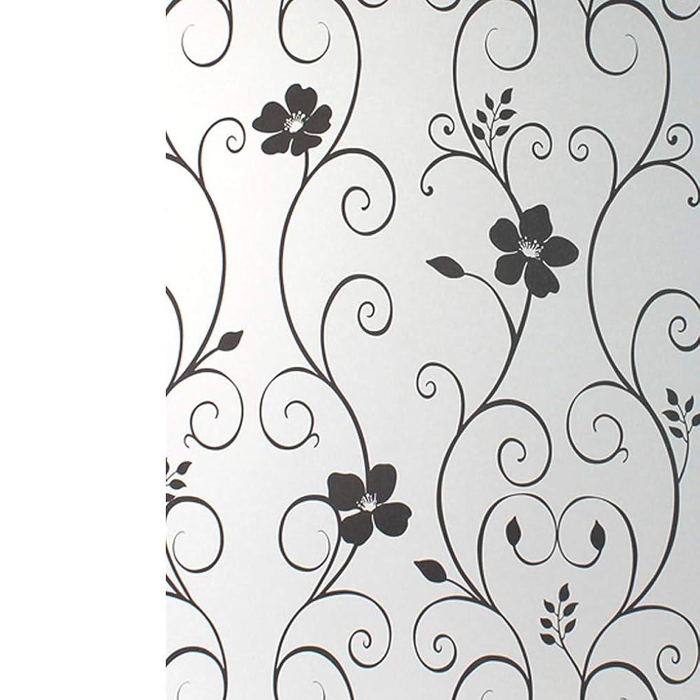 医薬品気絶させる活力Yiwanda 窓ガラスフィルム 断熱フィルム UVカットシート 無接着剤 遮光 遮熱 ガラスフィルム 建築建物ガラスフィルム 飛散防止 (90*2000CM,52)