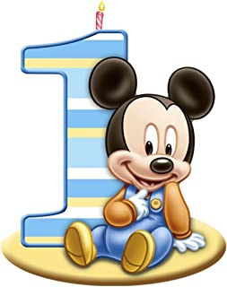 Mickey Mouse 1st Birthday Edible Image Photo Cake Topper Sheet Birthday Party - 1/4 Sheet - 75560