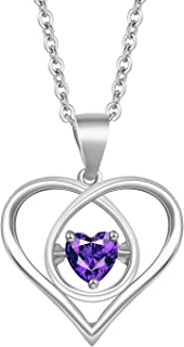 925 Sterling Silver Necklace for Women 14K Gold Plated Silver Heart Pendant Necklace with Cubic Zirconia High-end Birthday Gifts for Women Fashion Jewelry