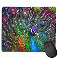 孔雀の羽 マウスパッド 25×30 大判 ノンスリップ 防水 ゲーミング おしゃれ マウスの精密度を上がる