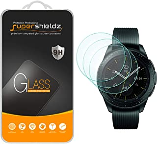 (3 Pack) Supershieldz for Samsung Galaxy Watch (42mm) Tempered Glass Screen Protector Anti Scratch, Bubble Free