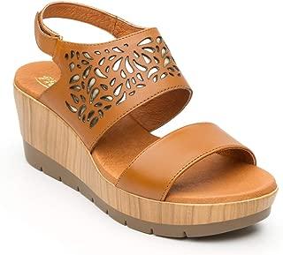 two tone wedge sandal