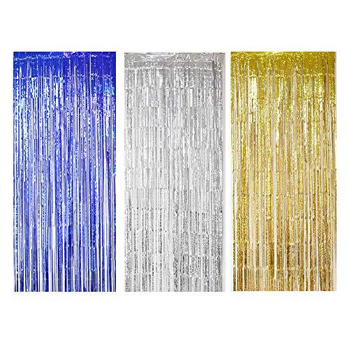 Feuille Frange lamé Brillant Rideau Porte Mariage Anniversaire Décorations de fête