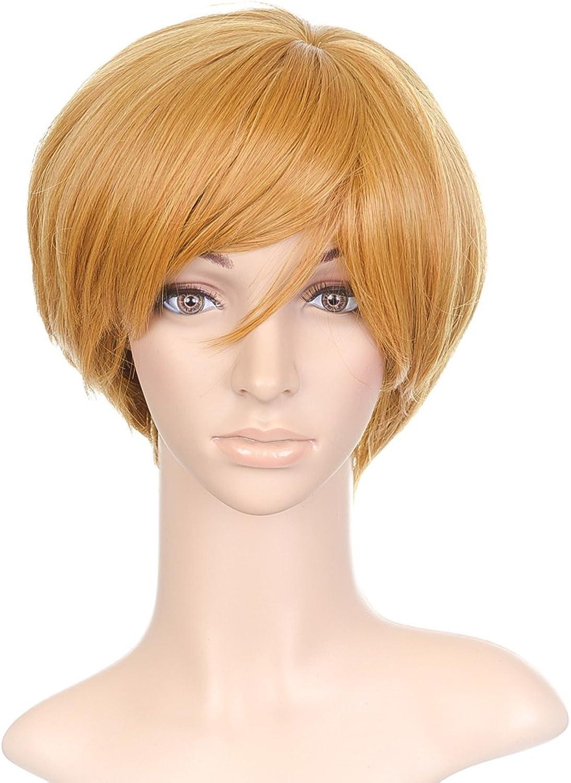 Pale orange Short Anime Cosplay Costume Wig