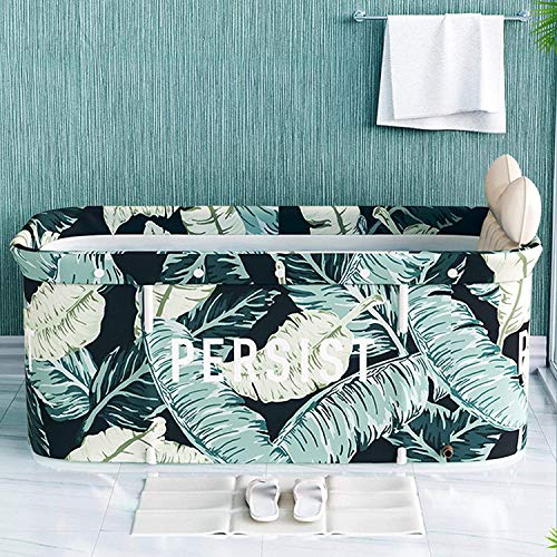 JINER Portable Folding Bathtub, Freestanding Bath Tub, 120CM Portable Non-Inflatable Bathtub, Easy to Install and Drain, Best Bath Tool for Home, Camping, School