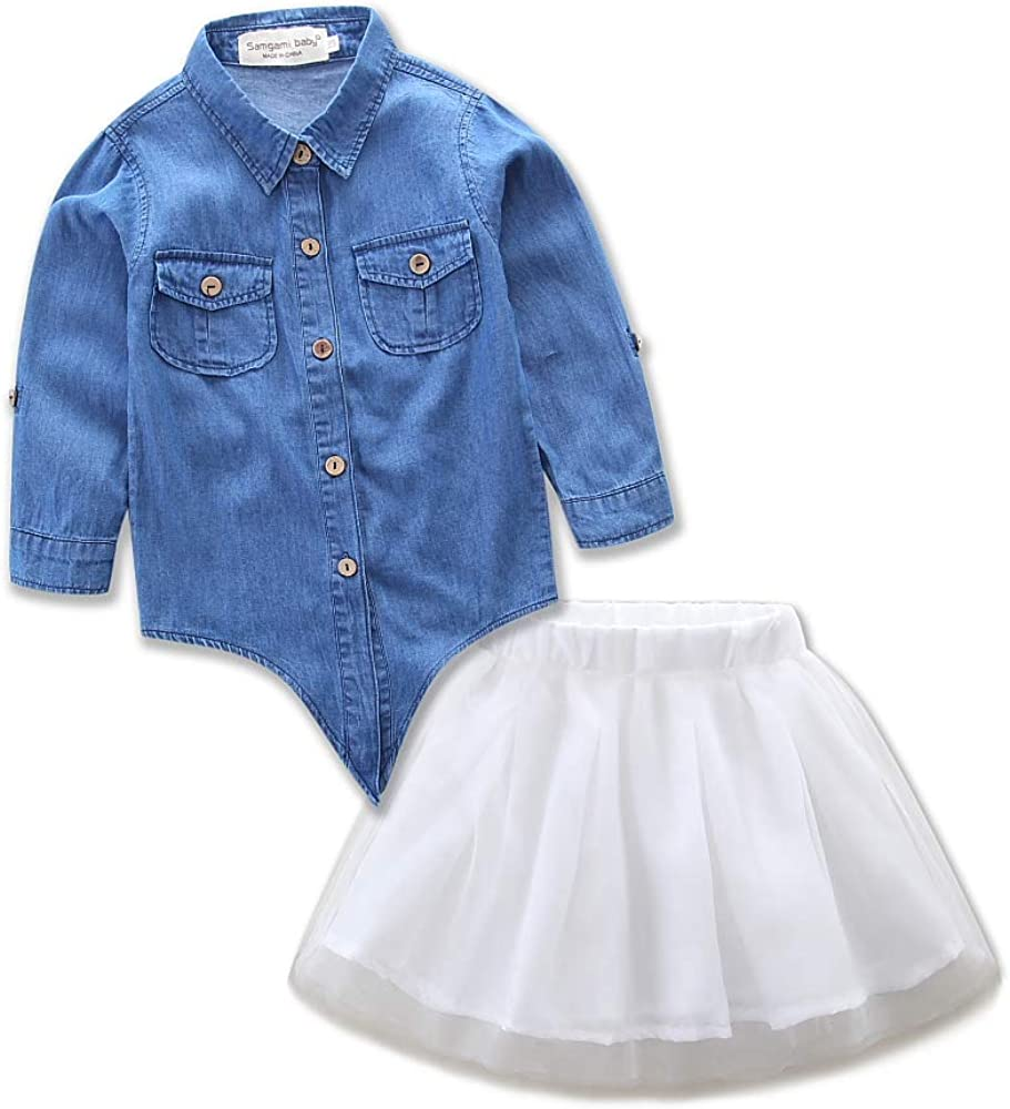 topseller-hzy 2 Pieces Set Mom Mesh Casual Daughter Denim Super sale Parent Japan Maker New