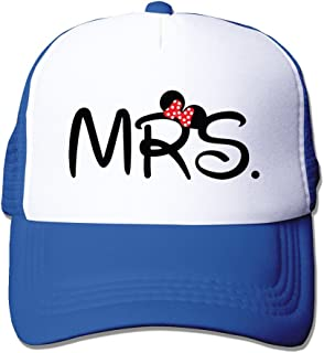 MZONE Personalized Two-toned Hats MRS Logo Summer Caps Black