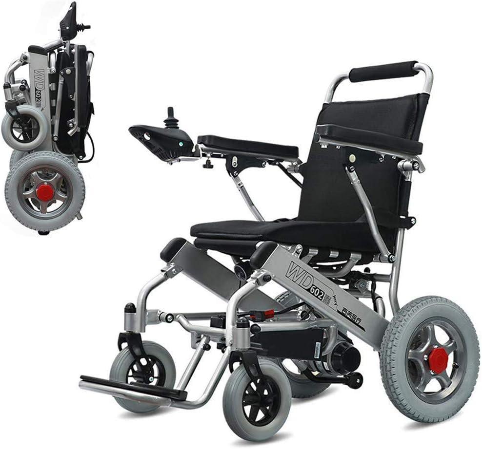 DLY Ancianos Discapacitados Silla de Ruedas Eléctrica Portátil Plegable para Ancianos Discapacitados 250W * 2 / 24V 20Ah Batería de Litio