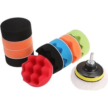 WINOMO 12pcs Polishing Pads Sponge Woolen Polishing Waxing Buffing Pads Kit Auto Car with M10 Drill Adapter