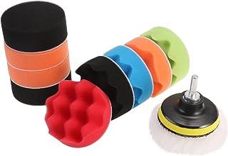 WINOMO 12 x Polierschwämme, Wolle, zum Polieren, Wachsen, Polieren und Polieren von Autos, mit M10 Bohrer Adapter.