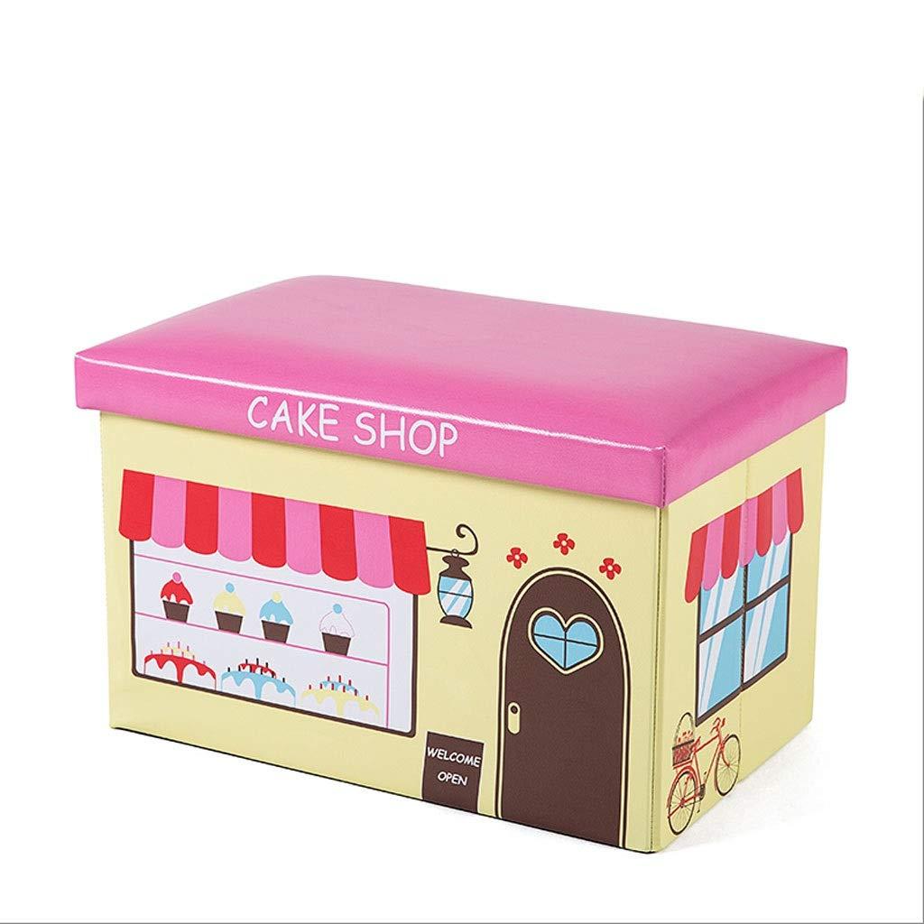 Taburete de almacenamiento, cambiador de zapatos, caja de almacenamiento para niños, merienda de juguete para ropa, caja de almacenamiento, taburete plegable multifunción que se puede sentar en un tab: Amazon.es: Hogar
