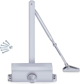 Door Closer Adjustable Spring Hydraulic Auto Door-Closers for Door Weight 187 Pounds with Easy Fitting Instruction