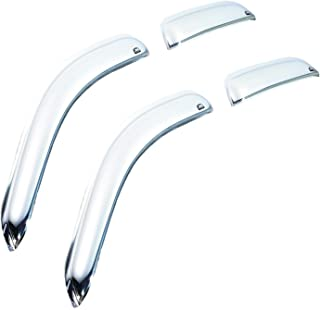 Auto Ventshade 684819 Chrome Ventvisor Side Window Deflector, 4-Piece Set for 2002-2010 Ford Explorer & Mercury Mountaineer, 2003-2010 Lincoln Aviator