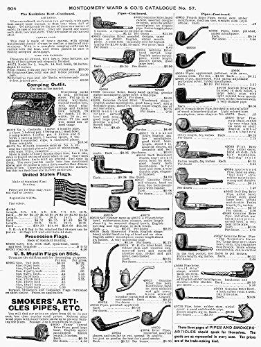 Pipes Werbung 1895 Werbung für Rauchpfeifen & US-Flaggen aus einem Montgomery Ward Katalog von 1895 Posterdruck, 24 x 36 cm