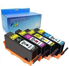 OGOUGUAN Compatible Ink Cartridge for HP 655 BK C M Y 4 Pcs for HP Deskjet Ink Advantage 3525/4615/4625/5525/6525 Inkjet Printer Part