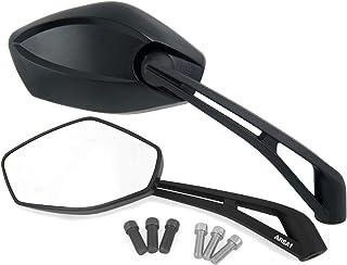 Universal Motorrad Rückspiegel Spiegel Set, E geprüft, 2x M10 Rechtsgewinde, 2x M8 Rechtsgewinde + 1x M10 Linksgewinde, 1x M8 Linksgewinde (E800)