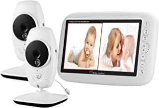 Video Baby Monitor, EMEBAY - Wireless Camera 7.0 Inch 720P HD LCD Color Screen Split Screen, Night Vision and Temperature ...