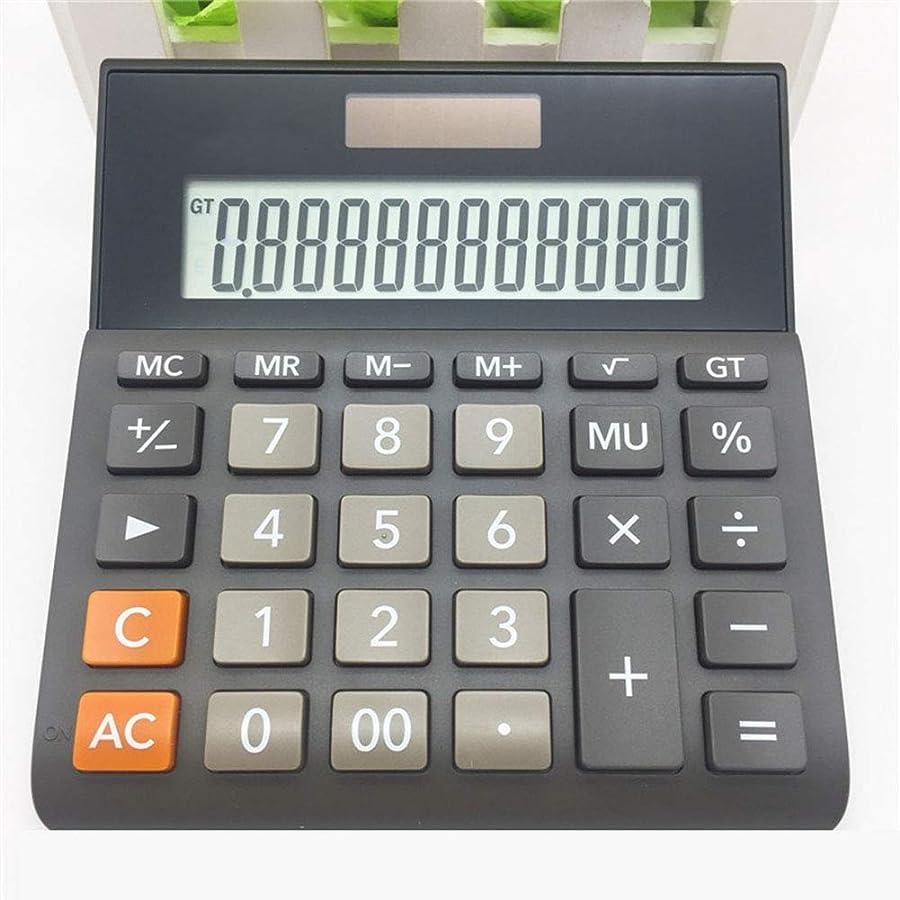 相談半径トンネルCalculatorSolar ビジネス電卓 デュアル電源 12桁表示 LED 大画面 プラスチックボタン 自動シャットダウン ブラック