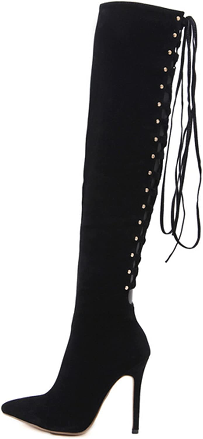 Women's Fashion Stylish Pull On Over Knee High Sexy Boots