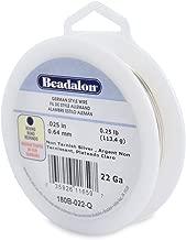 Beadalon 22-Gauge Tarnish Resistant Silver Plate Round Wire, 1/4-Pound