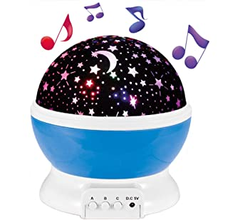 Enkman Night Light Projector, Baby Sleep Sound Machine, 360° Rotating Star Sky Night Lamp with Music & 8 Lighting Modes, Room Décor for Infant, Kids, Nursery, Camping, Party, Christmas[Upgraded]