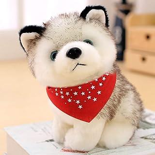 ハスキー 縫い包み ぬいぐるみ 犬 ワンコ リアル 可愛い アニマル キャラクター もふもふ インテリア 店飾り ベッドルーム グッズ プレゼント ギフト 子供 彼女彼氏へ 誕生日 ホワイトデー 24cm
