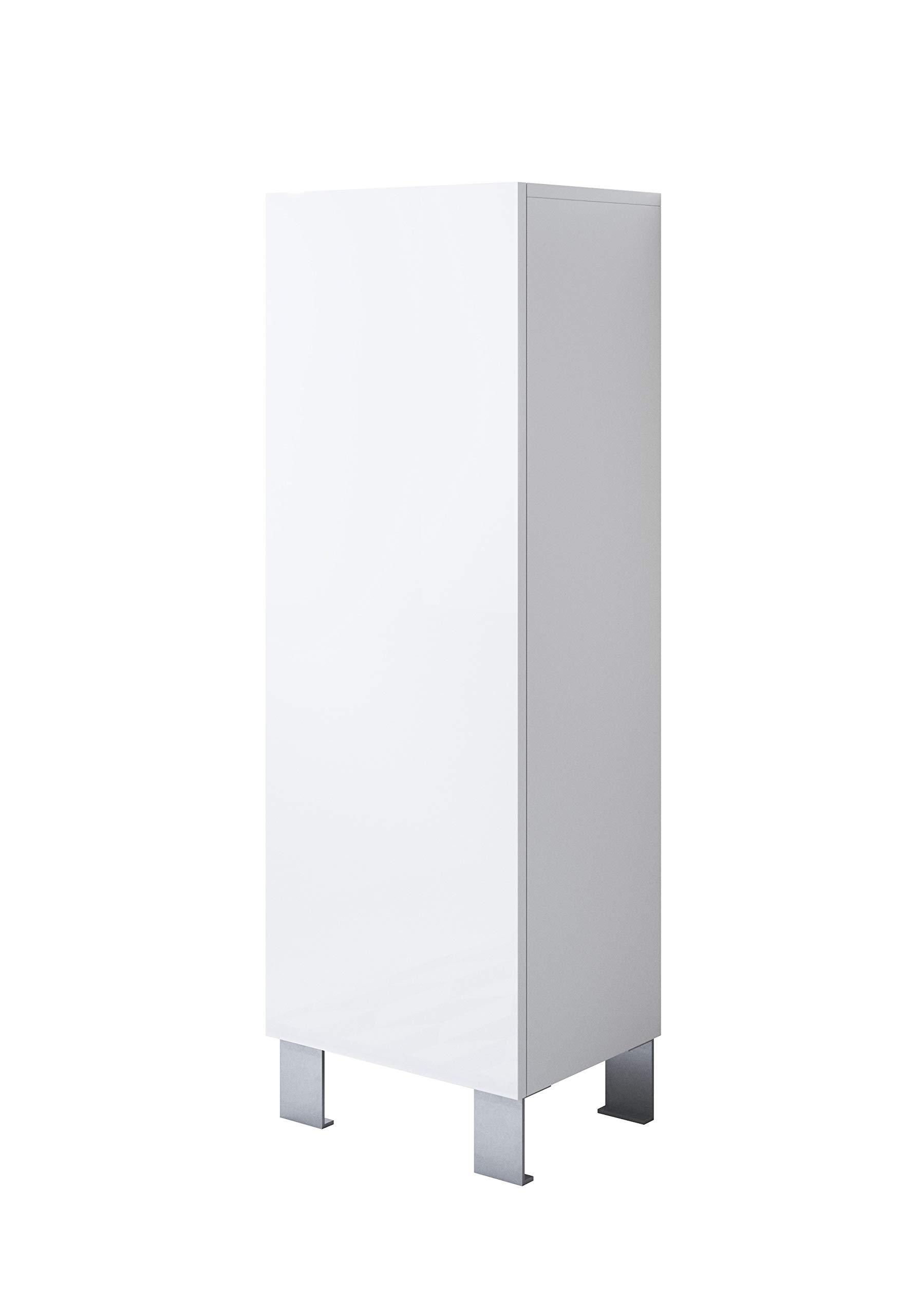 muebles bonitos Mueble Modelo Luke V1 (40 x 138 cm) Color Blanco con Patas de Aluminio: Amazon.es: Hogar