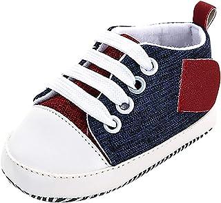 WEXCV Baby Unisex meisjes jongens schoenen naaien zeildoekschoenen prinses herfst elegant modieus lief kribbe loopschoenen...