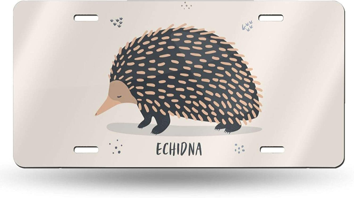 Outlet SALE Delerain License High quality new Plate Aluminum Sleepy Tag Car Me Echidna Cover