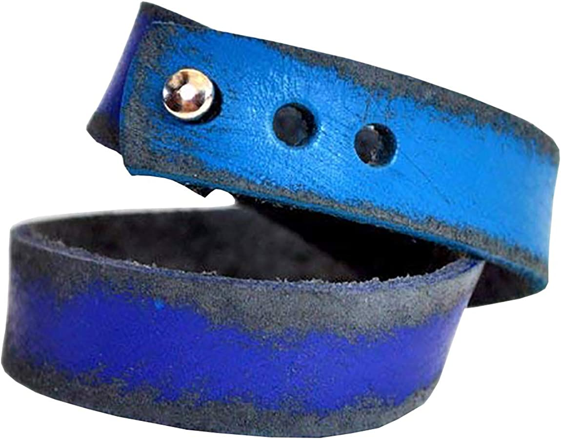 Fosterweld Leather Wrap Bracelet, Mobius Cuff