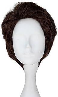 Miss U Hair Prince Wig Men's Short Wavy Brown Hair Cosplay Costume Wig C177