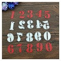 DFSM 金属ダイスカット金属切断ダイ1セット0-9数字金属切断ダイステンシルDIYエンボススクラップブッキングの装飾的な紙カード工芸品