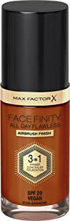Max Factor Facefinity 3-in-1 All Day Flawless Foundation, SPF 20, Ganache, 30ml