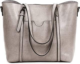 Women's Leather Work Tote Large Purse Handbag Vintage Style Soft Shoulder Bag